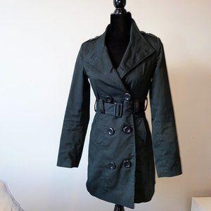 Urban Behavior Black Trench Coat size Small